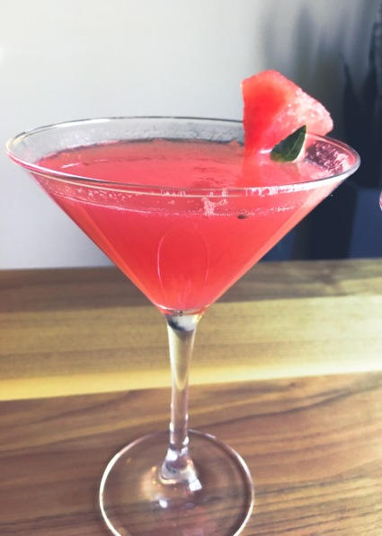 Low Sugar Watermelon Basil Martini